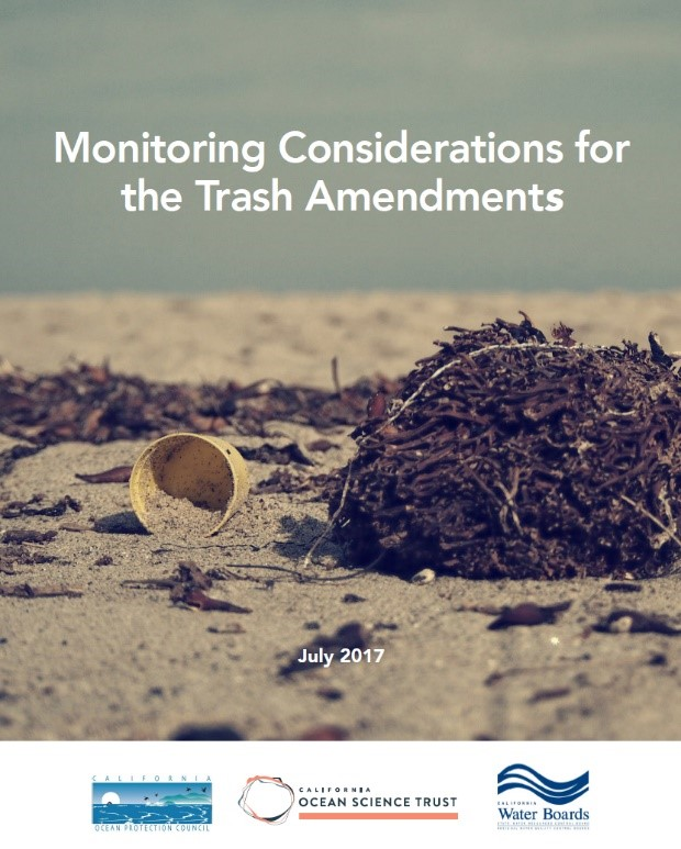 The cover of Monitoring Considerations for the Trash Amendments